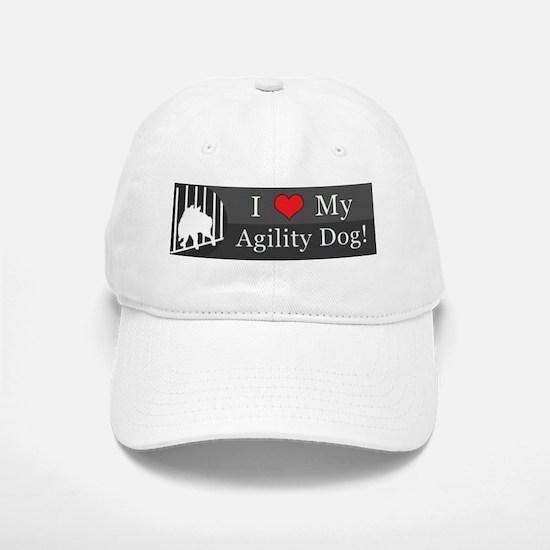 loveagilitydog_silver Baseball Baseball Cap