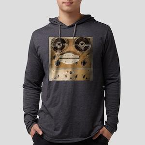 Vintage tape sound recorder reel Mens Hooded Shirt