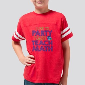 Math Party Youth Football Shirt