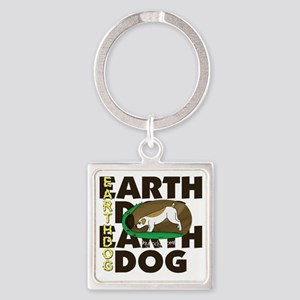new_earthdog_blk Square Keychain