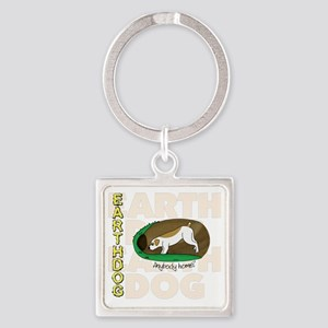 new_earthdog Square Keychain