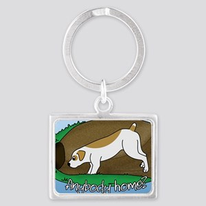 new_earthdog_oval Landscape Keychain