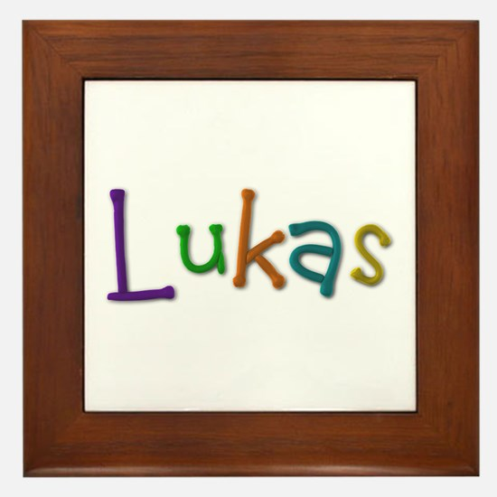 Lukas Play Clay Framed Tile