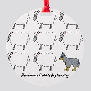 auscattle_herding Round Ornament