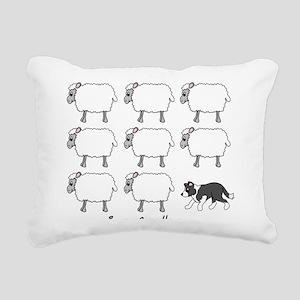 bordercollie_herding Rectangular Canvas Pillow
