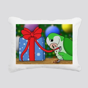 pickleeatingribbon_card Rectangular Canvas Pillow