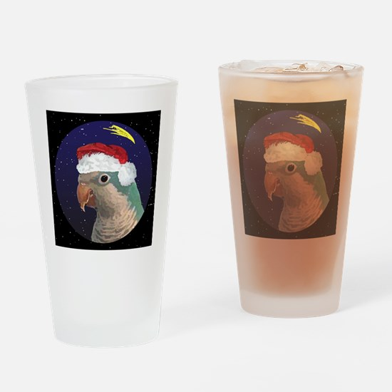 christmasnight_quaker_blue2 Drinking Glass