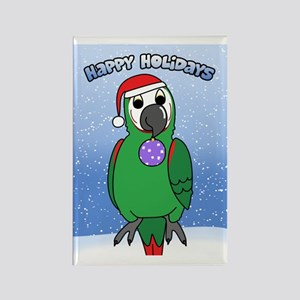 severemacaw_santa_holidays_card Rectangle Magnet