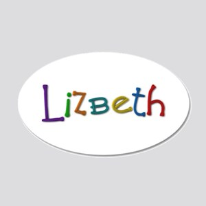 Lizbeth Play Clay 20x12 Oval Wall Decal