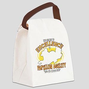 papillon_excellence_blk Canvas Lunch Bag