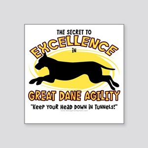 "greatdane_excellence Square Sticker 3"" x 3"""