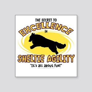 "sheltie_excellence Square Sticker 3"" x 3"""