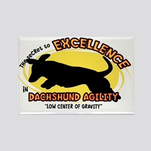 dachshund_excellence_oval Rectangle Magnet