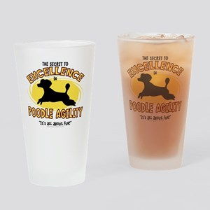 poodle_excellence Drinking Glass