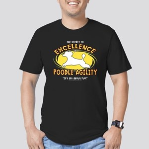 poodle_excellence_blk Men's Fitted T-Shirt (dark)