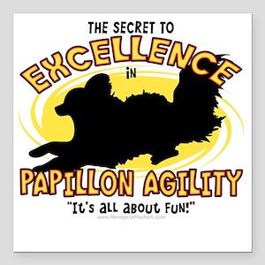"""papillon_excellence Square Car Magnet 3"""" x 3"""""""