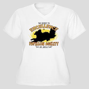 papillon_excellen Women's Plus Size V-Neck T-Shirt