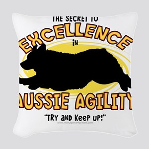 australianshep_excellence Woven Throw Pillow