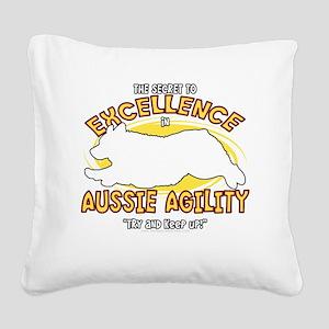 australianshep_excellence_blk Square Canvas Pillow