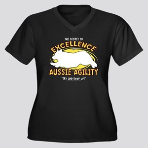 australiansh Women's Plus Size Dark V-Neck T-Shirt