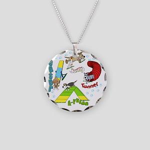 agilityfun Necklace Circle Charm