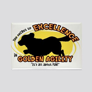 golden_excellence_oval Rectangle Magnet