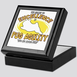 pug_excellence_blk Keepsake Box