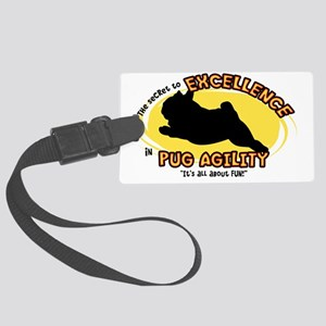 pug_excellence_oval Large Luggage Tag