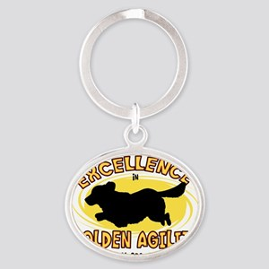 golden_excellence Oval Keychain