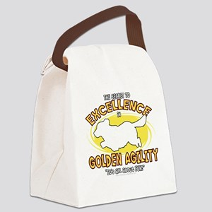 golden_excellence_blk Canvas Lunch Bag