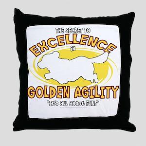 golden_excellence_blk Throw Pillow