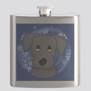 2-blacklab_ornament Flask