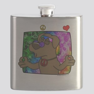 hippie_choclab_blk Flask