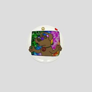 hippie_choclab_blk Mini Button