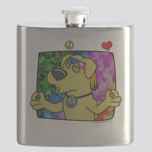 hippie_yellowlab_blk Flask