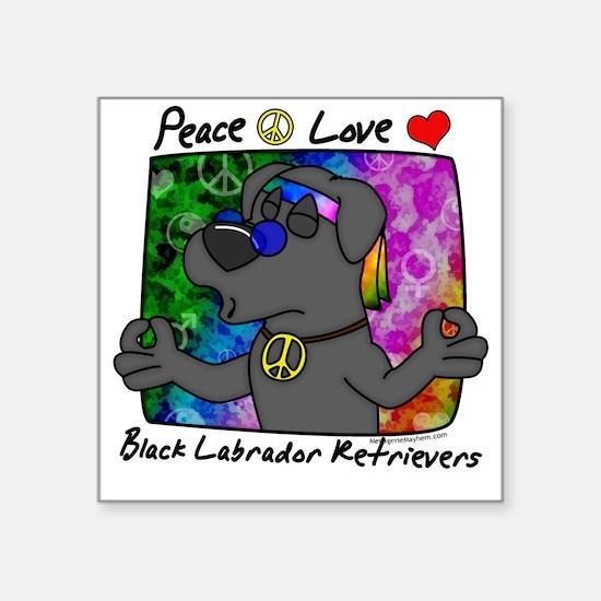 """hippie_blacklab Square Sticker 3"""" x 3"""""""