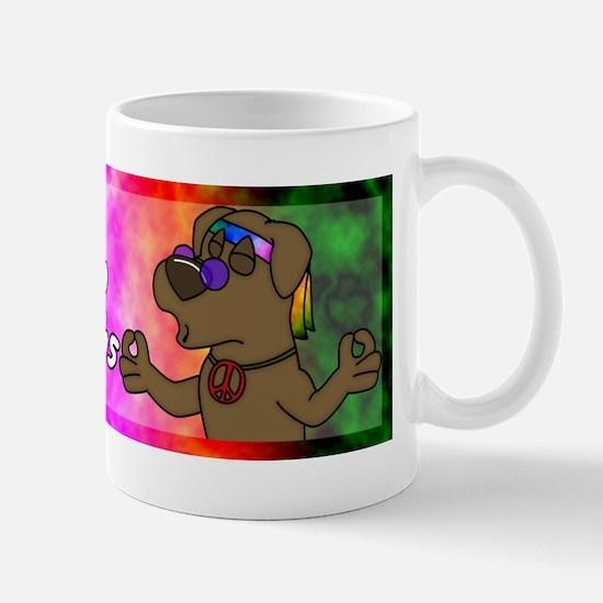 hippie_choclab_bumper Mug