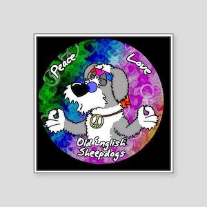 """hippie_oes_ornament Square Sticker 3"""" x 3"""""""