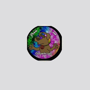 hippie_choclab_ornament Mini Button