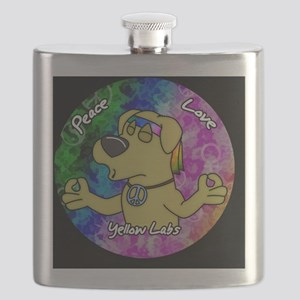 hippie_yellowlab_ornament Flask