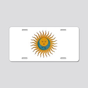 Sun And Moon Aluminum License Plate