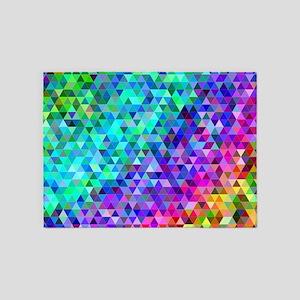 Rainbow Triangles 5'x7'Area Rug
