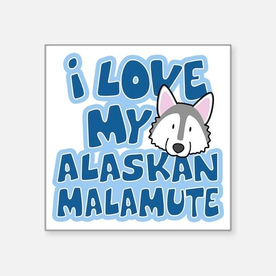 """alaskanmalamute_animelove Square Sticker 3"""" x 3"""""""