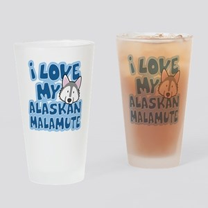alaskanmalamute_animelove Drinking Glass