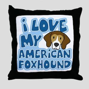 americanfoxhound_animelove Throw Pillow