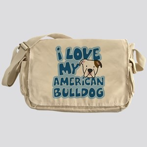 americanbulldog_animelove Messenger Bag