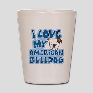 americanbulldog_animelove Shot Glass
