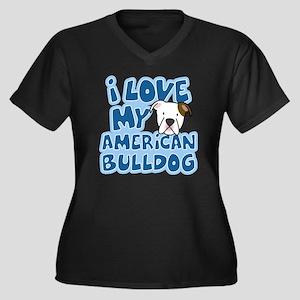 americanbull Women's Plus Size Dark V-Neck T-Shirt
