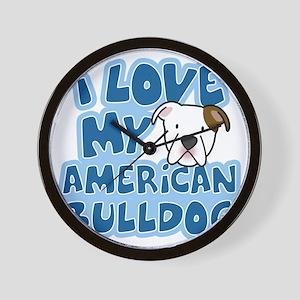 americanbulldog_animelove Wall Clock
