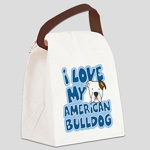 americanbulldog_animelove Canvas Lunch Bag